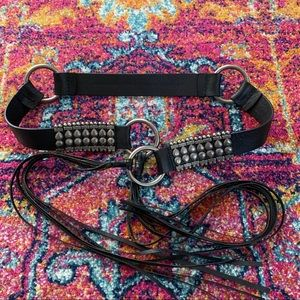 Leather Boho Tassel Fringe Belt